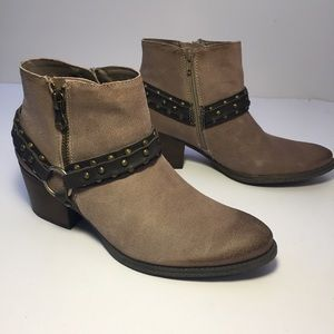 Crown Vintage Wendy Suede Leather Ankle Boots 11